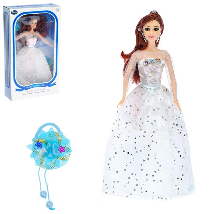 Кукла модель «Лана» в платье, с аксессуарами, МИКС
