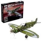 Конструктор металлический «Самолёт бомбардировщик», 258 деталей