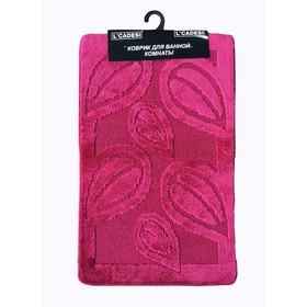 Коврик для ванной, LEMIS 60х100, цвет вишневый