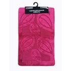 Набор ковриков для ванной 2 шт LEMIS 50х80, 50х40, цвет вишневый