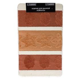 Набор ковриков для ванной 2 шт LEMIS 50х80, 50х40, цвет терракотовый