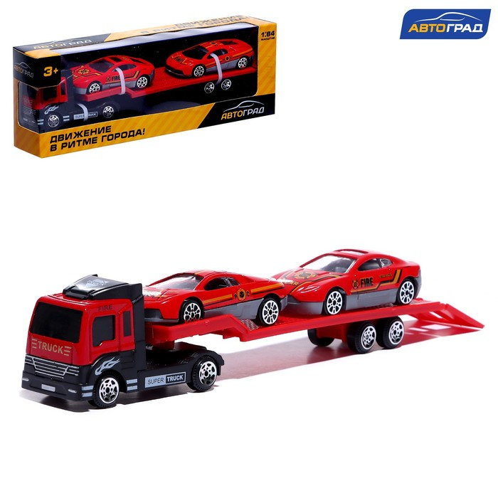 Машина металлическая «Пожарный автовоз», масштаб 1:64