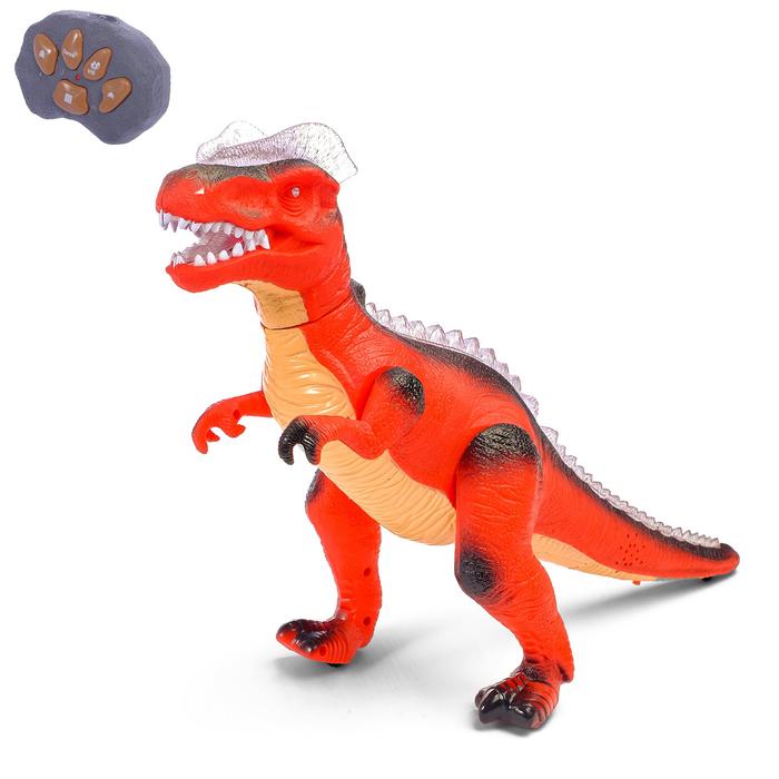 """Динозавр радиоуправляемый """"T-Rex"""", световые и звуковые эффекты, работает от батареек, МИКС"""