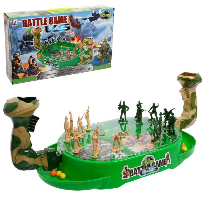 Настольная игра на ловкость «Военное сражение», для 2 игроков, стреляет шариками