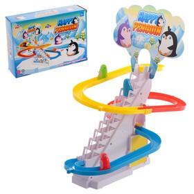 Развивающая игрушка «Пингвинчики на лесенке»