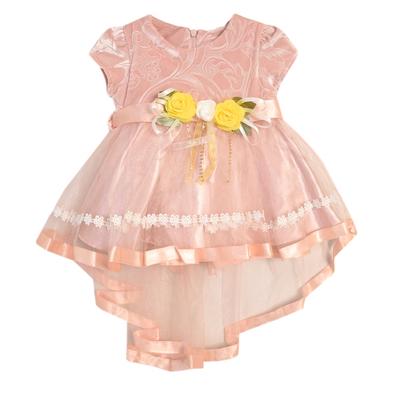 Нарядное платье для девочки,рост 86 см, цвет кремовый 7600-1_М