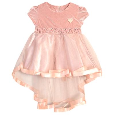 Нарядное платье для девочки,рост 86 см, цвет кремовый 7601-1_М