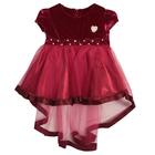 Нарядное платье для девочки,рост 80 см, цвет малиновый 7601-1_М