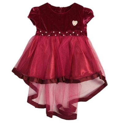 Нарядное платье для девочки,рост 86 см, цвет малиновый 7601-1_М