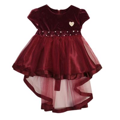 Нарядное платье для девочки,рост 80 см, цвет сливовый 7601-1_М