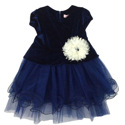Нарядное платье для девочки,рост 86 см, цвет синий 5675-1_М