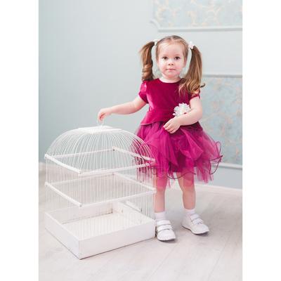 Нарядное платье для девочки,рост 86 см, цвет лиловый 5675-1_М