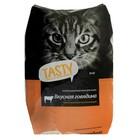 Сухой корм Tasty для взрослых  кошек, говядина, 10 кг