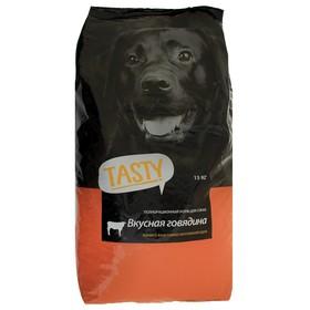 Сухой корм Tasty для взрослых собак, говядина, 15 кг
