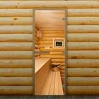 """Дверь для бани и сауны """"Полок"""", 190 х 70 см, с фотопечатью 8 мм Добропаровъ"""