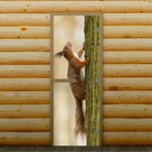 """Дверь для бани и сауны """"Белка на дереве"""", 190 х 70 см, с фотопечатью 8 мм Добропаровъ"""