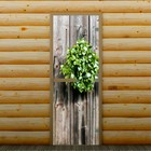 """Дверь для бани и сауны """"Веник"""", 190 х 70 см, с фотопечатью 8 мм Добропаровъ"""
