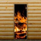 """Дверь для бани и сауны """"Пламя"""", 190 х 70 см, с фотопечатью 8 мм Добропаровъ"""