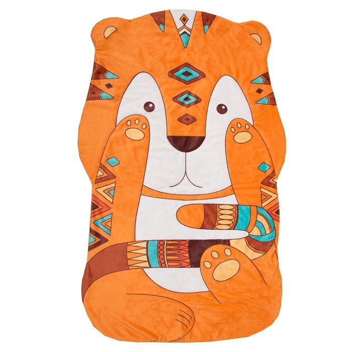 "Одеяло-плед ""Крошка Я"" Тигрёнок 129*77 см, велюр, синтепон 100г/м2"