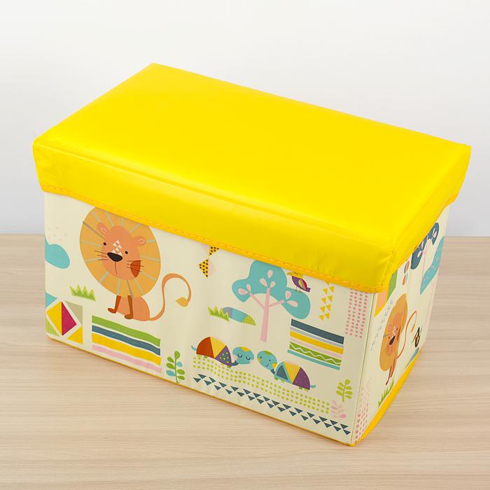 """Короб для хранения """"В гостях у льва"""", цвет желтый"""