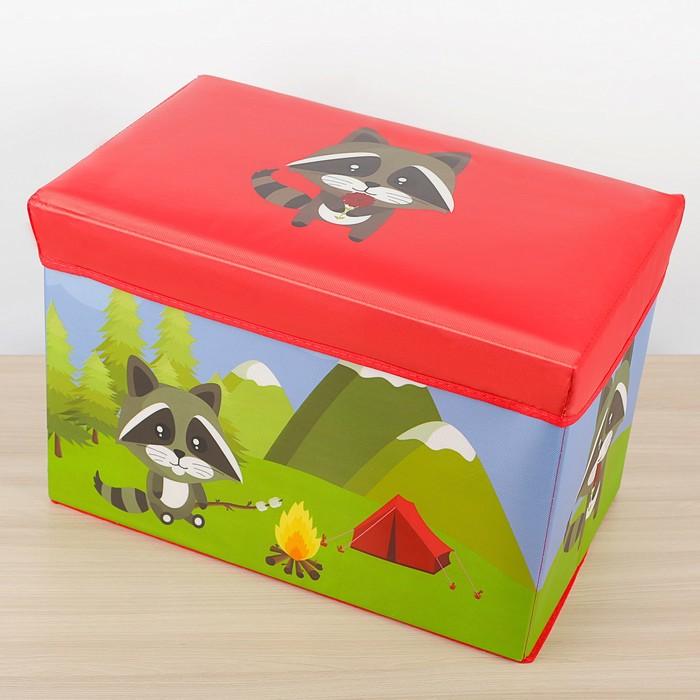 """Короб для хранения 49×31×31 см """"Крошка-енот"""", цвет красный"""