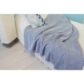 """Плед """"Финляндия"""", размер 140х200 см, цвет джинсовый 2048.7"""