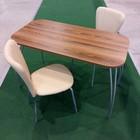 """Обеденная группа """"Фигаро"""", стол 1200х600 мм ясень рибейро, 4 стула Кафе2 крем"""