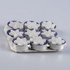 Набор чайных свечей, малых «Снежинка с декором», d=3,7 см, 9 штук