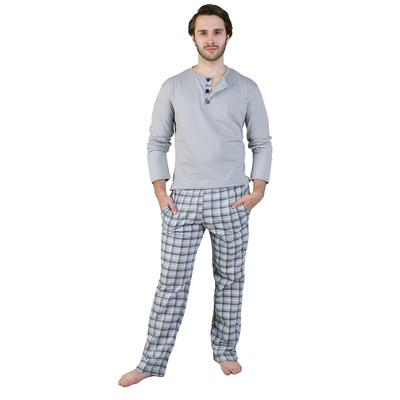 Пижама мужская (джемпер, брюки) Денди цвет серый, р-р 50