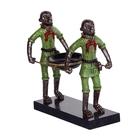 """Блюдце декоративное """"Две обезьяны"""", с подставкой"""