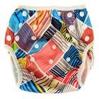 Многоразовый подгузник для плавания «Конопуша» Разноцветные клеточки, 4-18 кг