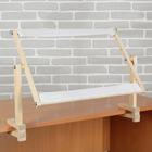 Пяльцы-рамка 34*55см с креплением к столу, дерево/текстиль