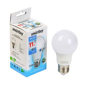 Лампа cветодиодная Smartbuy, A60, E27, 11 Вт, 6000 К, холодный белый свет