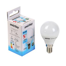 Лампа cветодиодная Smartbuy, Р45, E14, 5 Вт, 4000 К, холодный белый Ош