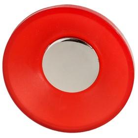 Ручка-кнопка PLASTIC 001, пластиковая, красная