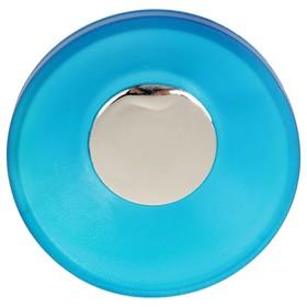 Ручка-кнопка PLASTIC 001, пластиковая, синяя