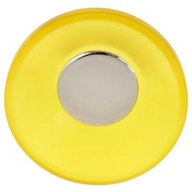 Ручка кнопка PLASTIC 001, пластиковая, желтая Ош