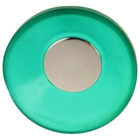 Ручка кнопка PLASTIC 001, пластиковая, зеленая Ош