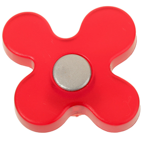Ручка-кнопка PLASTIC 002, пластиковая, красная