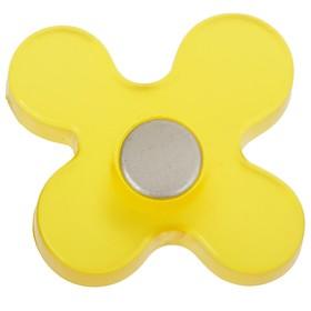 Ручка кнопка PLASTIC 002, пластиковая, желтая Ош