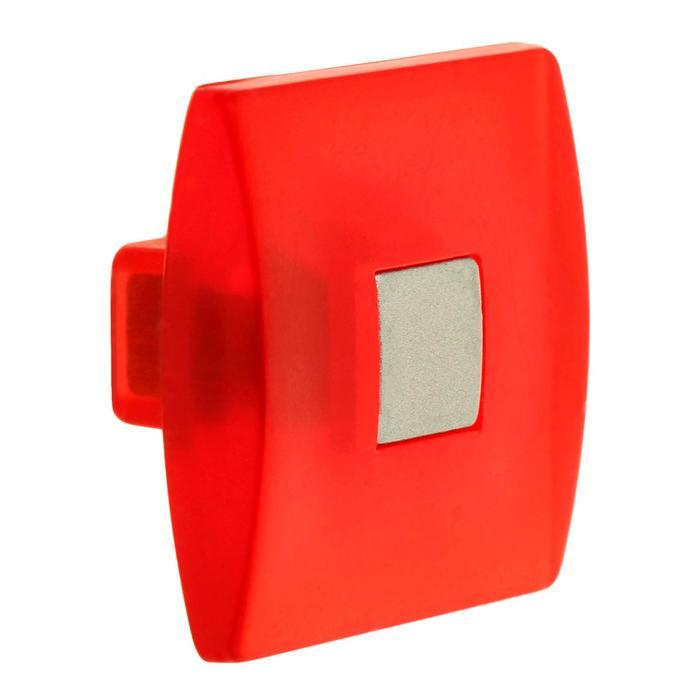 Ручка кнопка PLASTIC 003, пластиковая, красная