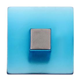 Ручка кнопка PLASTIC 003, пластиковая, синяя Ош