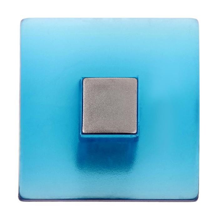 Ручка-кнопка PLASTIC 003, пластиковая, синяя