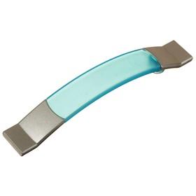 Ручка-скоба  PLASTIC 005, пластиковая, 96 мм, синяя
