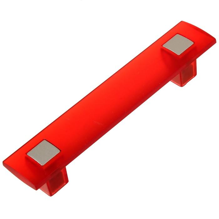 Ручка скоба PLASTIC 007, пластиковая, м/о 96 мм, красная - фото 699022843