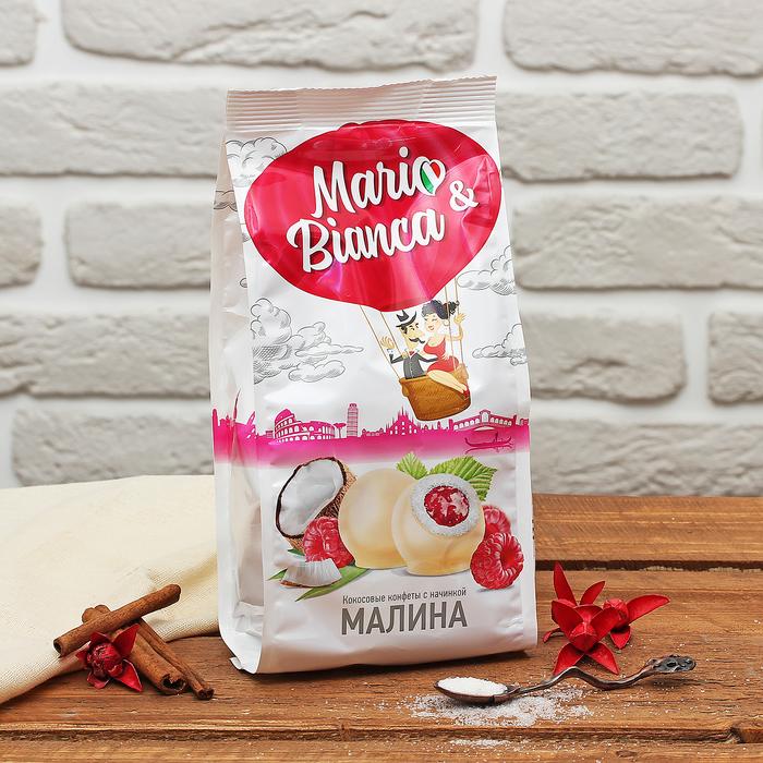 """Кокосовая конфета с начинкой """"Малина"""" 190 гр"""