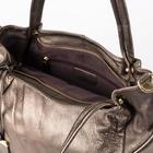 Сумка женская, отдел с перегородкой, наружный карман, длинный ремень, цвет бронзовый - фото 50394