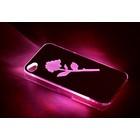 """Чехол для задней панели Apple iPhone 4/4S, с подсветкой """"Цветы"""", МИКС"""