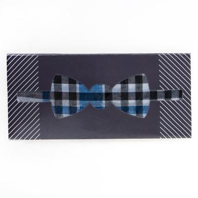 """Платок носовой """"Этель"""" Галстук-бабочка. клетка синяя 35 х 35 см, хлопок"""
