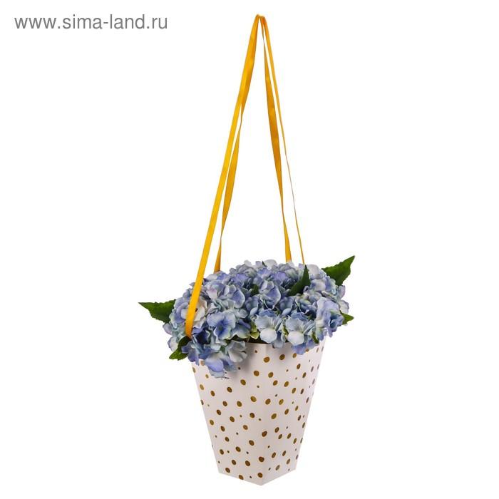 Коробка для цветов на лентах «Любви и радости», 33,5 х 31,5 см